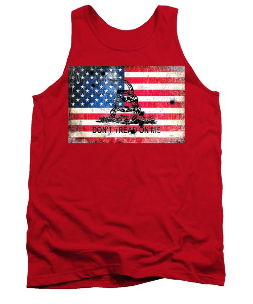 Viper N Bullet Holes On Old Glory Tank Top
