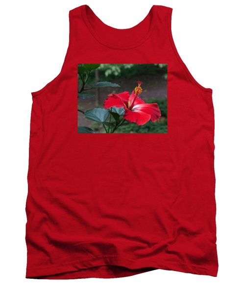 Tank Top featuring the photograph Vivid Hibiscus by Arlene Carmel
