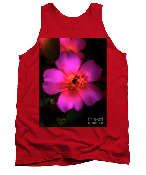 Vivid Rich Pink Flower Tank Top
