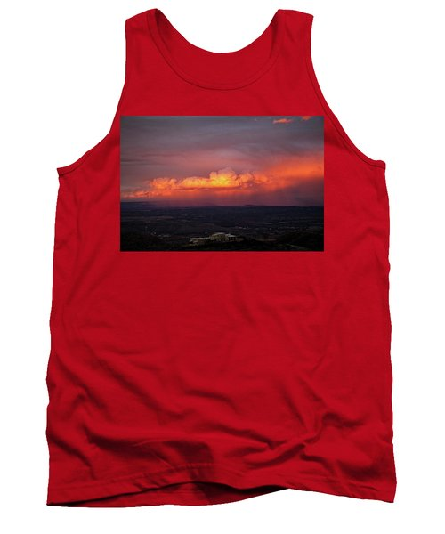 Vivid Verde Valley Sunset Tank Top by Ron Chilston