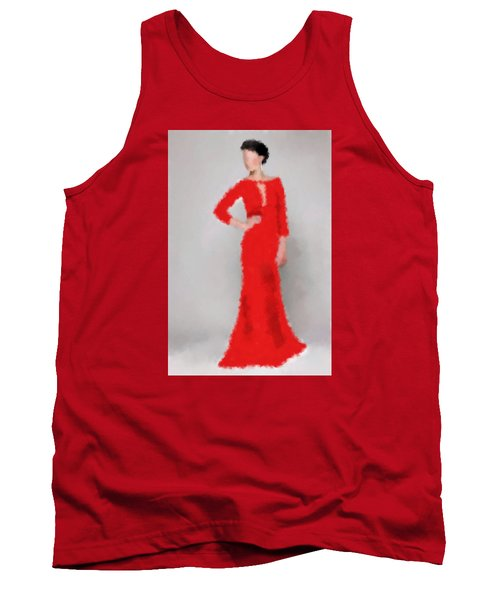 Tank Top featuring the digital art Vivienne by Nancy Levan