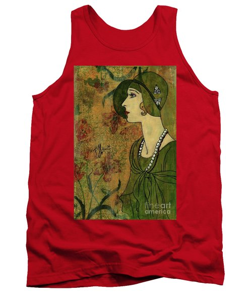 Tank Top featuring the painting Vogue Twenties by P J Lewis