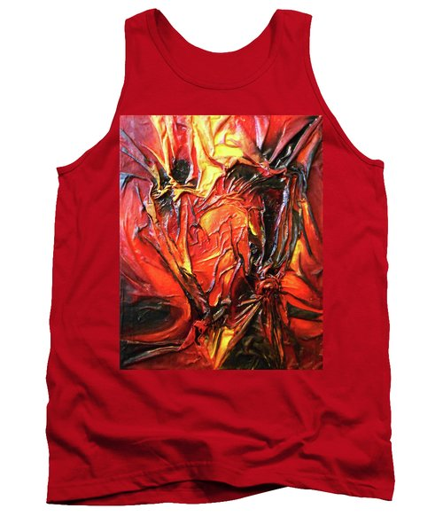 Volcanic Fire Tank Top by Angela Stout