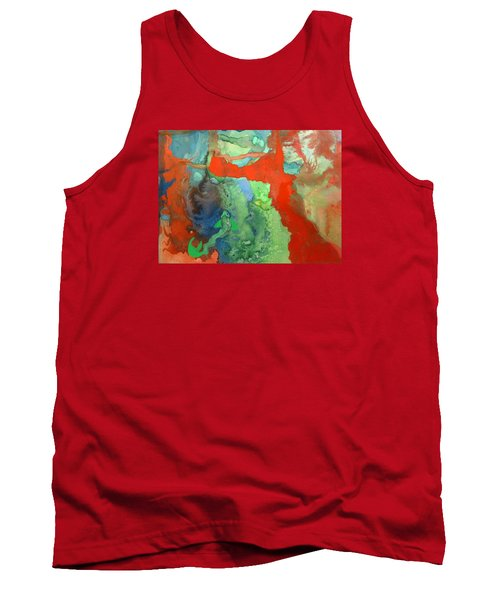 Volcanic Island Tank Top by Mary Ellen Frazee