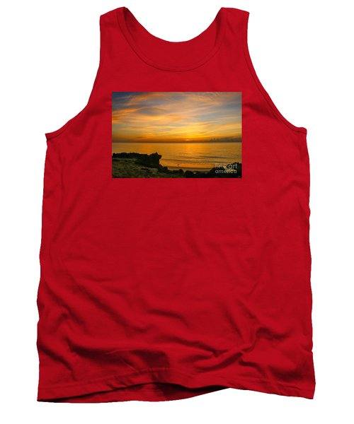 Wading In Golden Waters Tank Top by Tom Claud