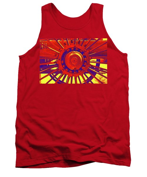 Tank Top featuring the photograph Wagon Wheel by Cynthia Powell