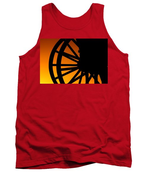 Wagon Wheel Sunset Tank Top