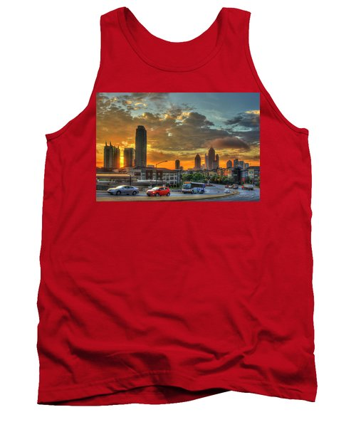 Waking Up Midtown Atlanta Towers Over Atlantic Commons Art Tank Top