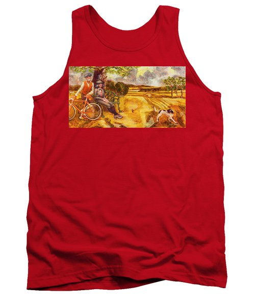 Walking The Dog After Gainsborough Tank Top by Mark Jones