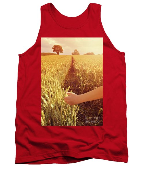Tank Top featuring the photograph Walking Through Wheat Field by Lyn Randle