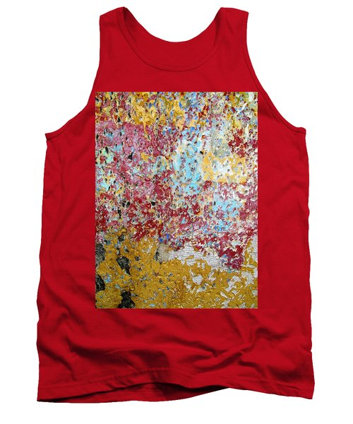 Wall Abstract 123 Tank Top by Maria Huntley