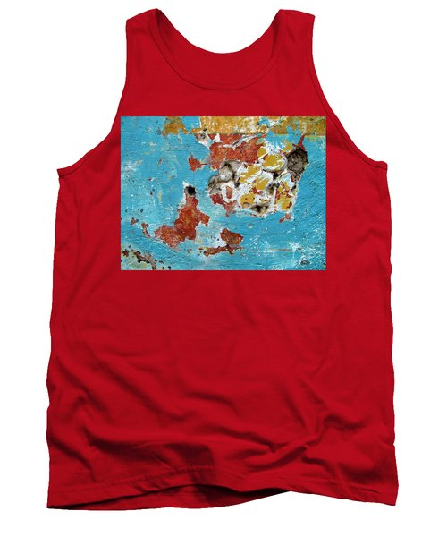 Tank Top featuring the photograph Wall Abstract 99 by Maria Huntley