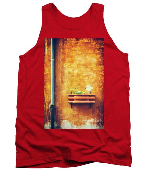 Tank Top featuring the photograph Wall Gutter Vase by Silvia Ganora