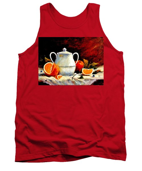 Tank Top featuring the painting Warm Light by Cristina Mihailescu