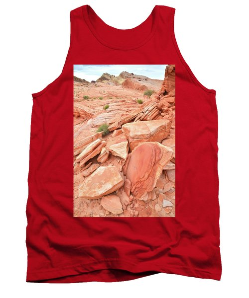 Tank Top featuring the photograph Wash 4 Color In Valley Of Fire by Ray Mathis