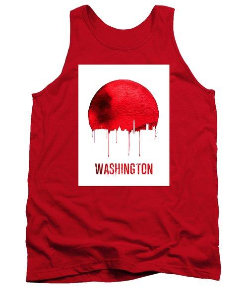 Washington Skyline Red Tank Top by Naxart Studio