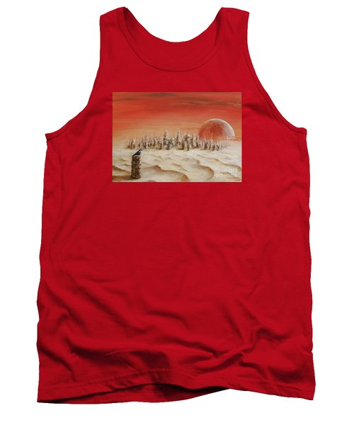 Tank Top featuring the painting Watcher by Arturas Slapsys