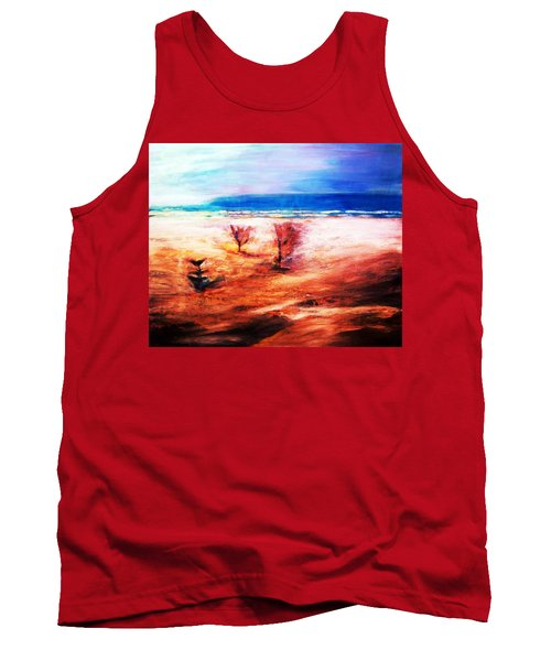Tank Top featuring the painting Water And Earth by Winsome Gunning