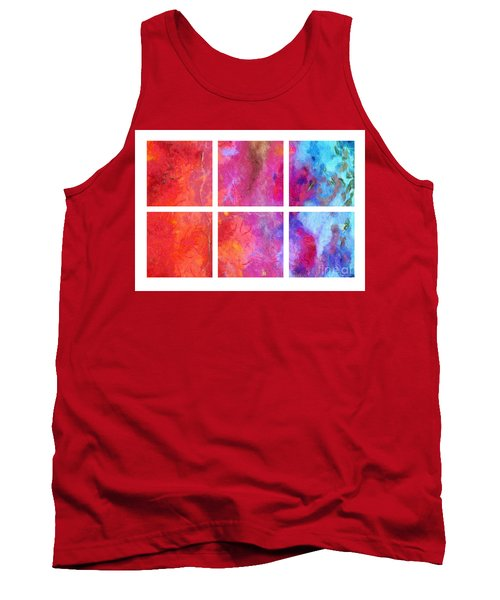 Water And Fire Abstract Tank Top
