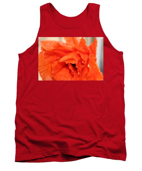 Water On Orange Tank Top by Christin Brodie