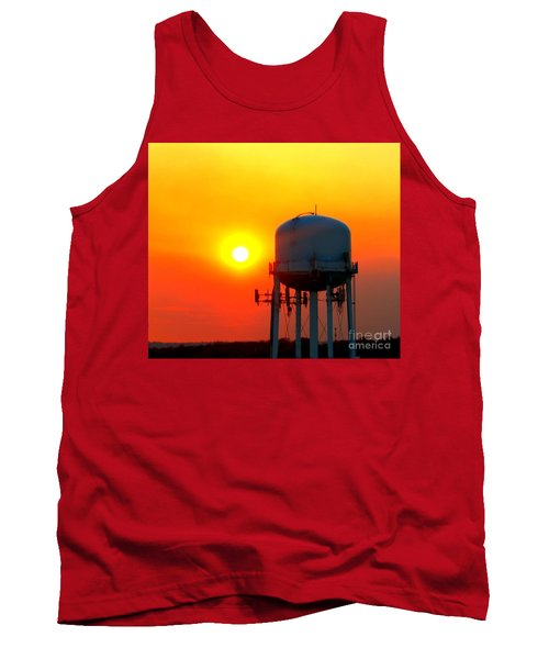 Water Tower Sunset Tank Top