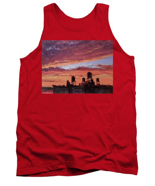 Water Towers At Sunset No. 4 Tank Top