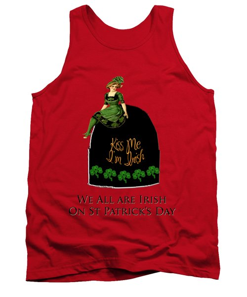 Tank Top featuring the digital art We All Irish This Beautiful Day by Asok Mukhopadhyay