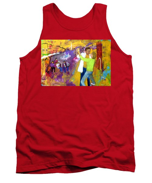 Tank Top featuring the painting We Tangoed On The Piazza Navono by Keith Thue