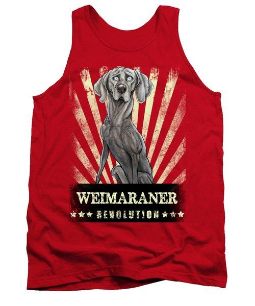 Weimaraner Revolution Tank Top