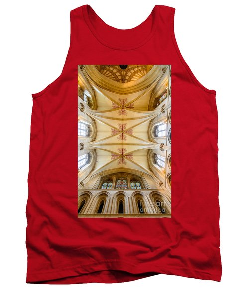 Tank Top featuring the photograph Wells Cathedral Ceiling by Colin Rayner