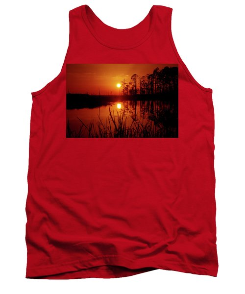Tank Top featuring the photograph Wetland Sunset by Robert Geary