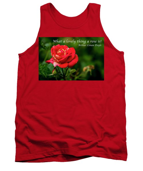 What A Lovely Thing A Rose Is Tank Top