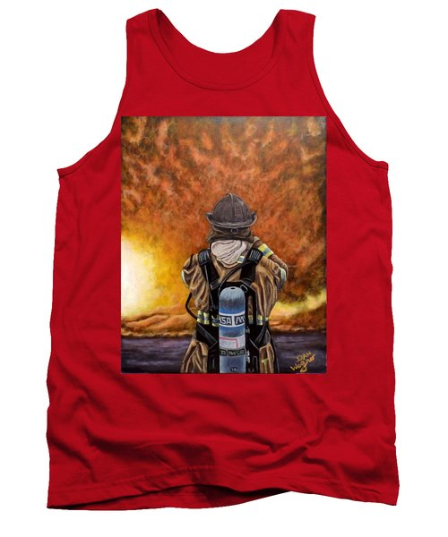 When Hell Comes To Visit Tank Top by Dan Wagner