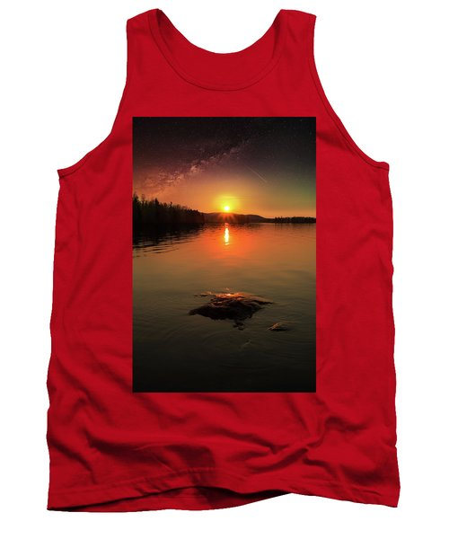 Where Heaven Touches The Earth Tank Top by Rose-Marie Karlsen