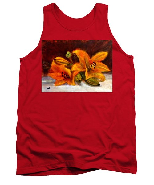 Tank Top featuring the painting Whispers Of Love..2 by Cristina Mihailescu