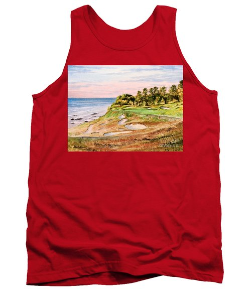 Whistling Straits Golf Course 17th Hole Tank Top by Bill Holkham