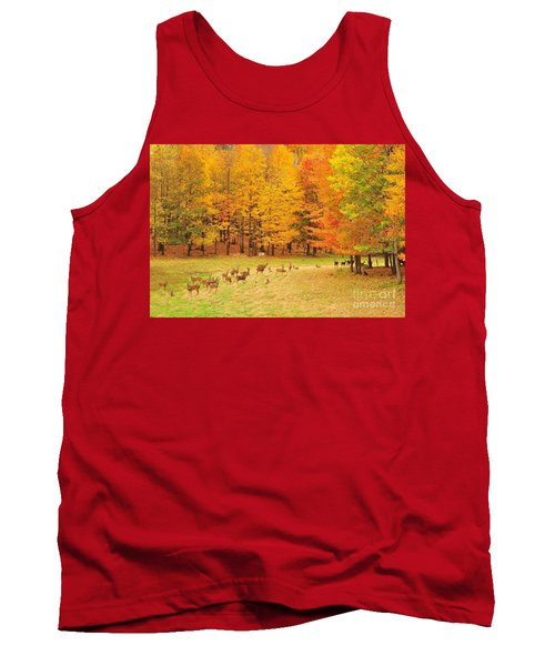 White Tail Deer Herd Tank Top