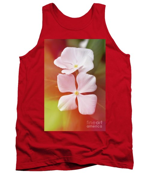 White Vinca With Vivid Highligts  Tank Top