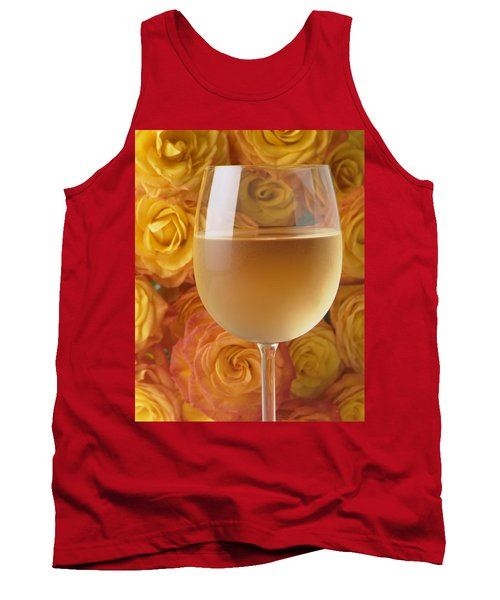 White Wine And Yellow Roses Tank Top
