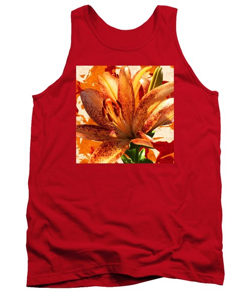 Tank Top featuring the mixed media Wild Beauty With Freckles by Gabriella Weninger - David