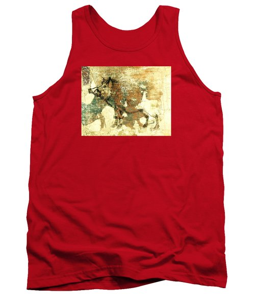 Wild Boar Cave Painting 1 Tank Top by Larry Campbell
