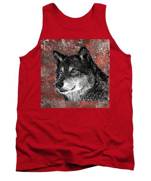 Wild Dark Wolf Tank Top