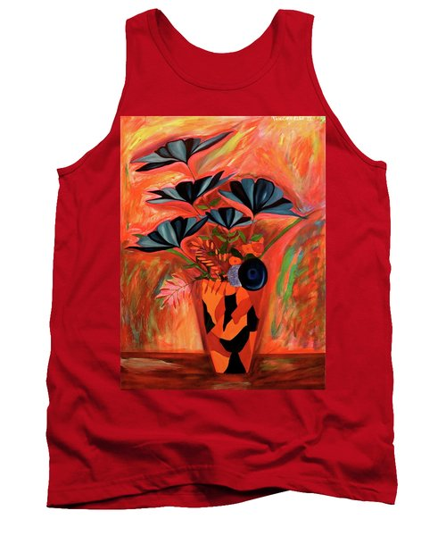 Tank Top featuring the painting Wild Flowers  A Still Life  by Iconic Images Art Gallery David Pucciarelli