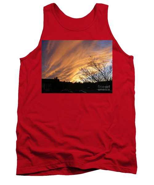 Wild Sky Of Autumn Tank Top by Barbara Griffin