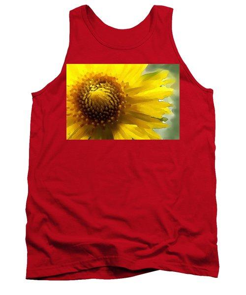 Wild Sunflower Up Close Tank Top