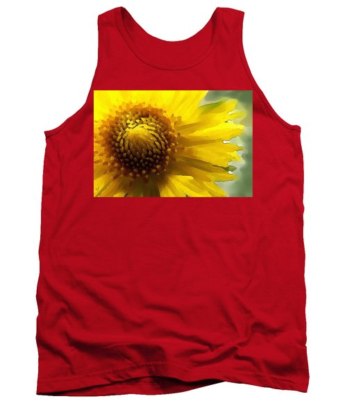 Tank Top featuring the digital art Wild Sunflower Up Close by Shelli Fitzpatrick
