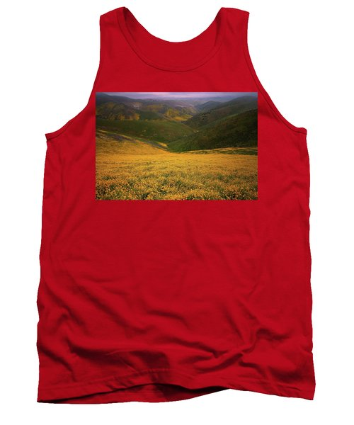 Wildflower Field Up In The Temblor Range At Carrizo Plain National Monument Tank Top