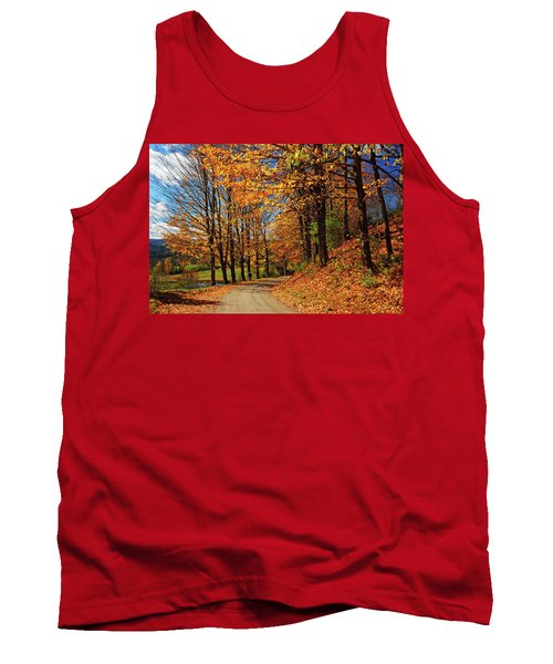 Winding Country Road In Autumn Tank Top