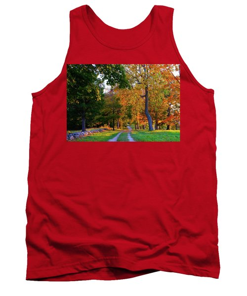 Winding Road In Autumn Tank Top