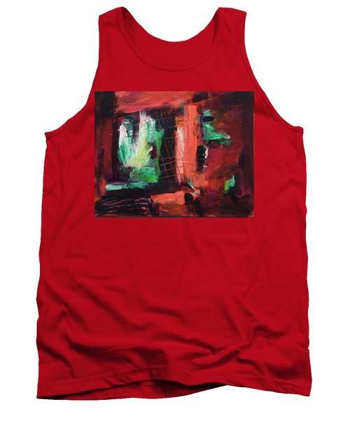 Window Original Acrylic Painting Tank Top